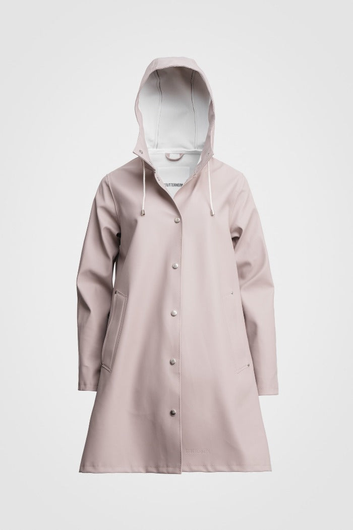 Stutterheim Mosebacke taupe raincoat A-line Stutterheim's iconic raincoat | PIPE AND ROW