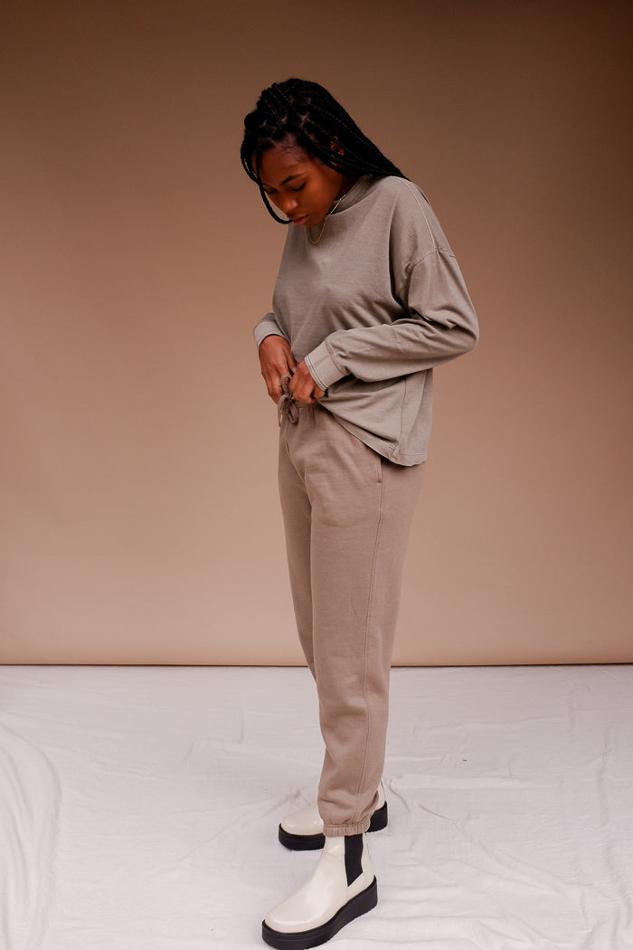 Richer Poorer fleece jogger recycled heavy weight thick sweatpants soft warm grey | pipe and row fremont seattle