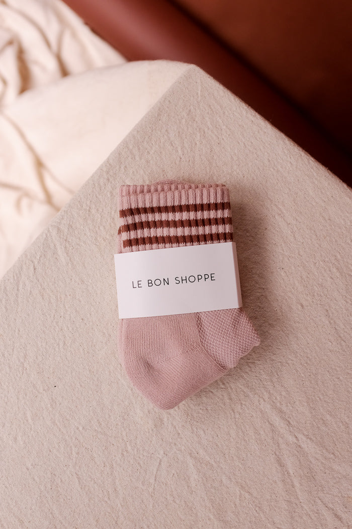 Le Bon Shoppe ribbed Girlfriend socks bellini | pipe and row boutique
