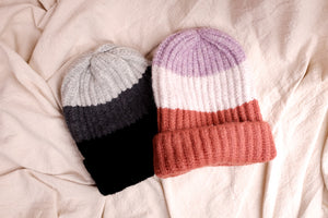 THREE STRIPE BEANIE