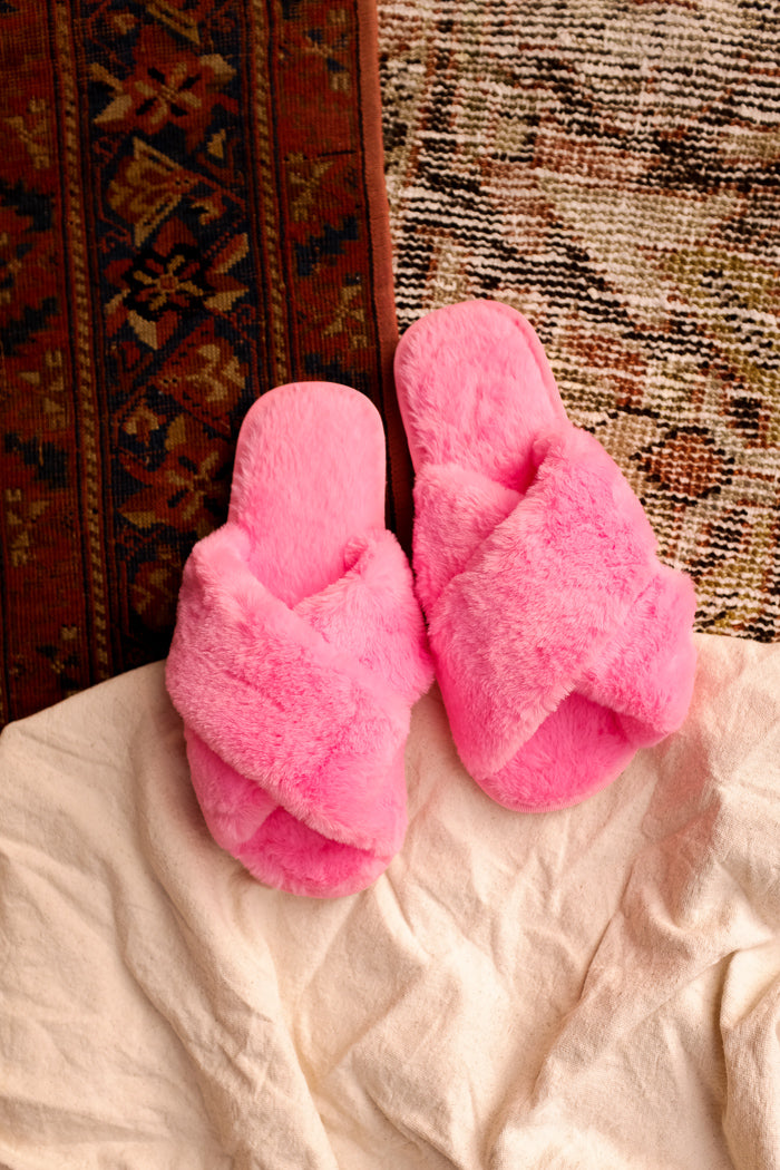 SLIPPERS HOT PINK