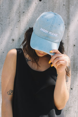 Intentionally Blank daddy please embroidered dad hat | Pipe and row