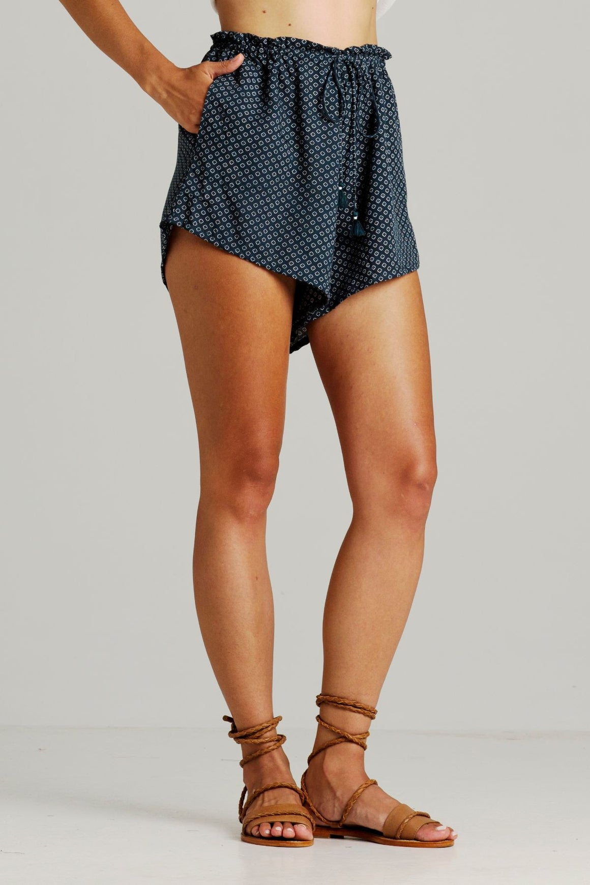 rue stiic daria slouch shorts canary | pipe and row seattle
