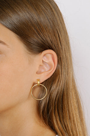 Wolf Circus Cairo Hoops Grande Gold earrings | PIPE AND ROW Boutique Seattle