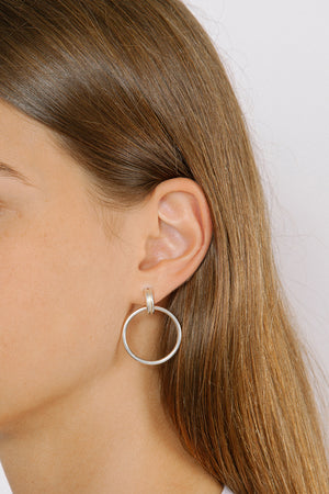 Wolf Circus Cairo Hoops Grande Gold Silver earrings jewelry | PIPE AND ROW Boutique Seattle
