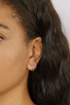 Wolf Circus Double Hoop set earrings silver | Pipe and Row Seattle Fremont