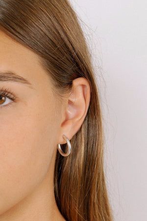 Wolf Circus Gia thick hoop earrings silver | pipe and row