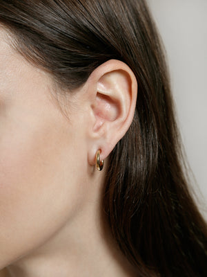 Wolf Circus jewelry Baby Gia hoop earrings gold simple minimal | Pipe and Row Boutique