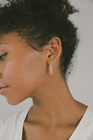 LAUREN CHAIN LINK EARRINGS