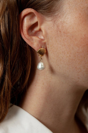 Wolf Circus gold Marcel pearl earrings | PIPE AND ROW Boutique Seattle