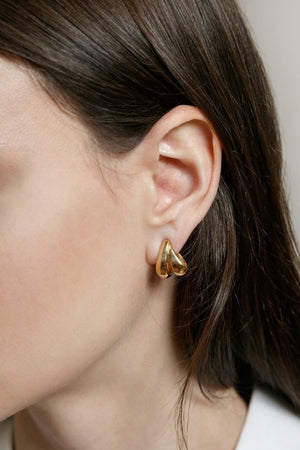 Wolf Circus jewelry Margot double hoops gold | Pipe and Row boutique, ethical, sustainable