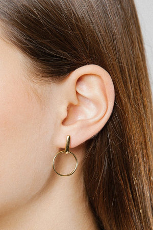 marie hoop earrings 14k gold plated wolf circus | pipe and row jewelry