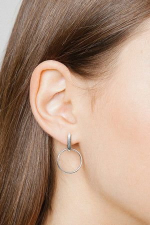 marie earrings dainty silver hoops handmade wolf circus | pipe and row jewelry