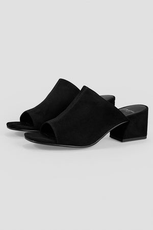 Vagabond Elena black suede mule sandals shoes | Pipe and Row