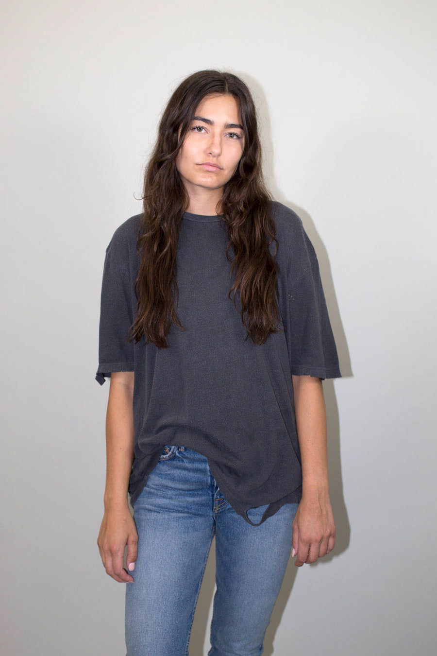 finnis distressed tee black pigment drifter | pipe and row boutique