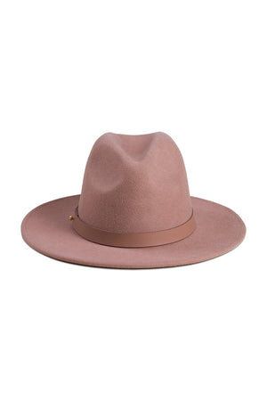 Lack of Color Fleur classic luxe fedora in dusty mauve | Pipe and Row