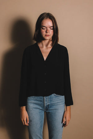 Lacausa Gemma blouse button up | pipe and row boutique seattle Fremont