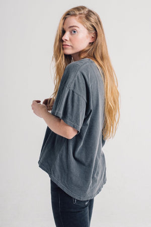 GWYN OVERSIZED TEE WASHED BLUE