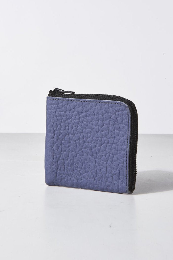 Lilac half zip wallet cerulean neon bright blue ampersand as apostrophe | pipe and row seattle