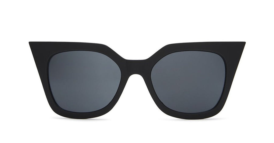 Harper Black cat eye Quay Australia Sunglasses | PIPE AND ROW SEATTLE