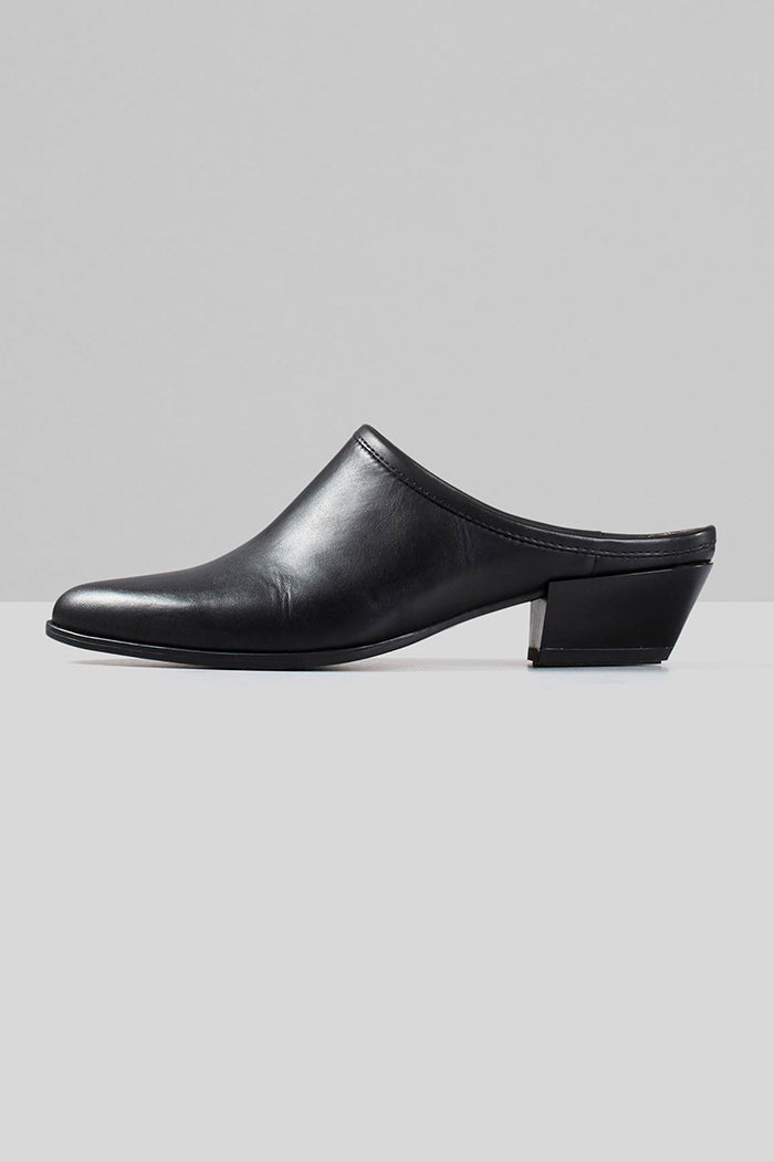 Vagabond western inspired Hayley black leather mule | PIPE AND ROW
