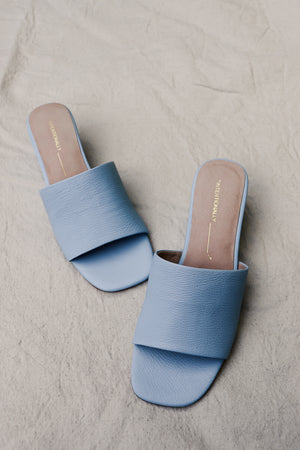 Intentionally Blank Hey Jessica wedge sandals in powder blue. PIPE AND ROW