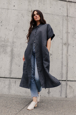 Filosofia Alexa shirt dress ink grey | Pipe and Row boutique www.pipeandrow.com