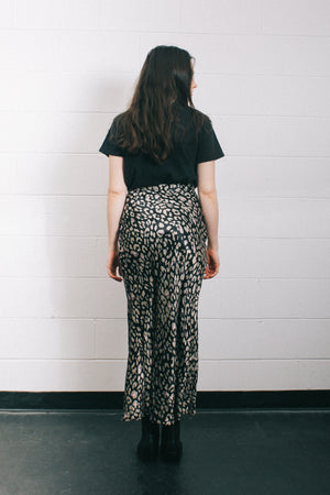 Never Fully Dressed silky leopard print Adelaide modern midi high waist skirt | pipe and row