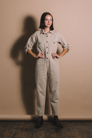 Rita Row Mo military jumpsuit cotton beige | Pipe and Row