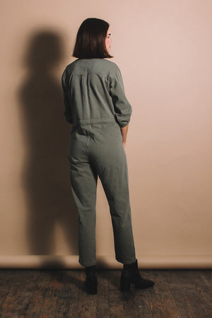 Rita Row Mo military jumpsuit cotton khaki army green | Pipe and Row