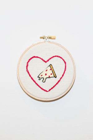 PIZZA HEART EMBROIDERY