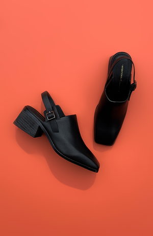 Intentionally Blank Jio leather square toe mule | pipe and row boutique
