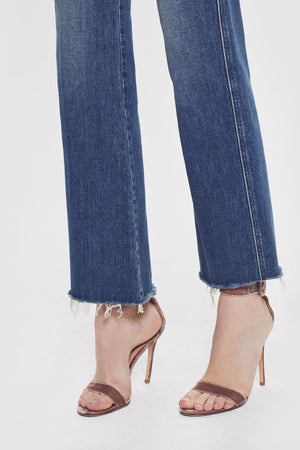 Mother Tripper weekender cropped flare ankle fray Just One Sip | PIPE AND ROW Seattle
