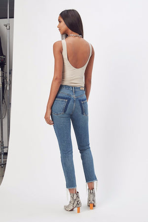 Karolina high rise smiths skinny back grlfrnd denim | pipe and row