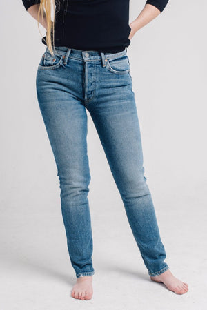 GRLFRND Denim Karolina Highrise jeans Groovy Situation | Pipe and Row