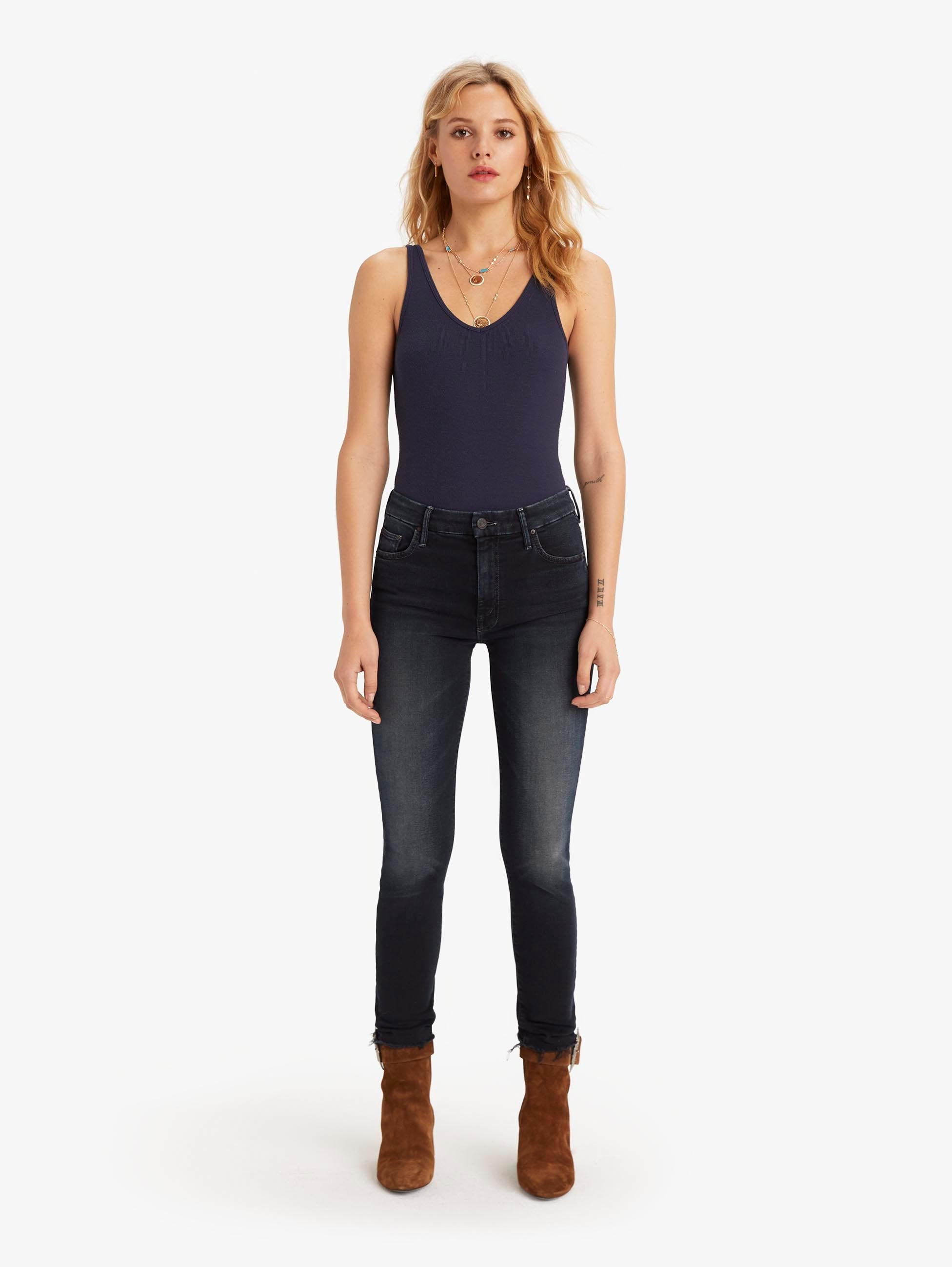 HIGH WAIST LOOKER ANKLE FRAY LAST CALL