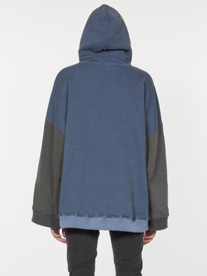 laila pulllover hoodie blue black back drifter | pipe and row