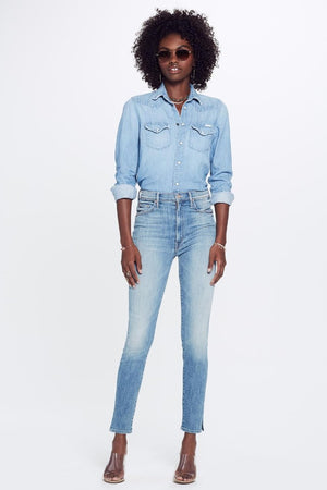 Mother Denim Swooner ankle slice lemonade and lies wash | Pipe and Row