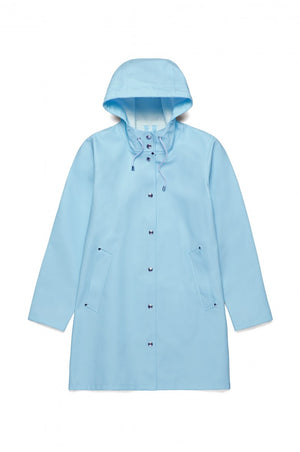 Stutterheim Mosebacke Rain Jacket Light Blue | PIPE AND ROW