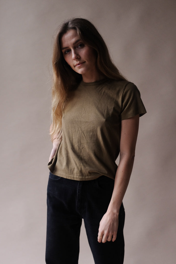 Agolde Linda Boxy tee succulent Slightly cropped crew | Pipe and row