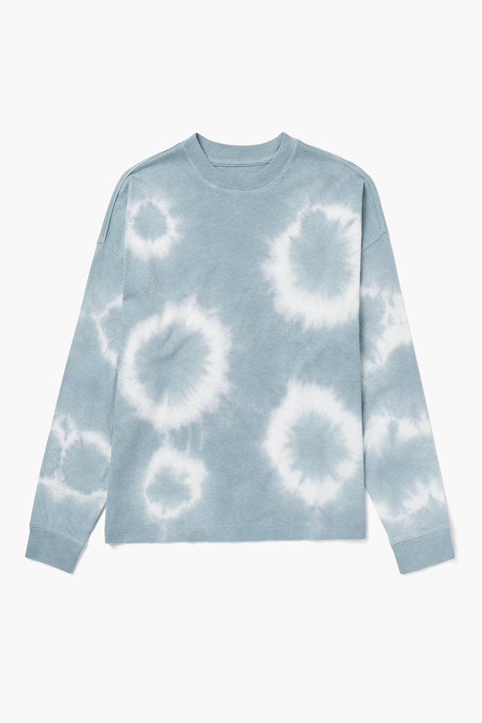 Richer Poorer relaxed long sleeve pullover tie dye blue mirage wash | Pipe and Row
