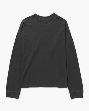 RELAXED LONG SLEEVE PULLOVER STRETCH LIMO