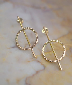 Lunar Earrings 14k gold | PIPE AND ROW