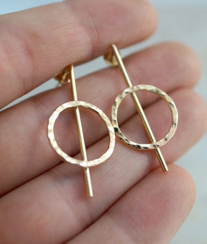 Lunar Earrings 14k gold jewelry | PIPE AND ROW