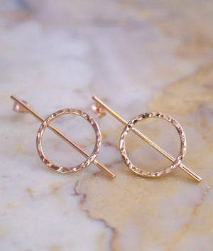 Lunar Earrings 14k rose gold fill | PIPE AND ROW