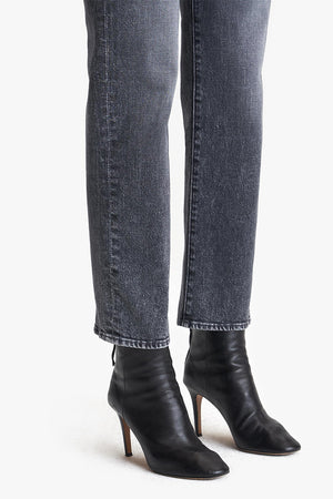Mother denim high waist straight leg Saint Ankle Midnight Races wash | Pipe and Row