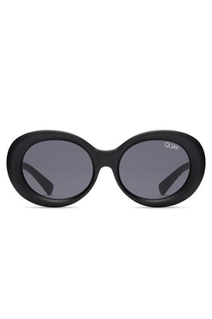 matte oval sunglasses mess around black smoke quay | pipe and row