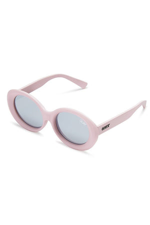 lilac oversized statement oval mess around sunglasses quay | pipe and row
