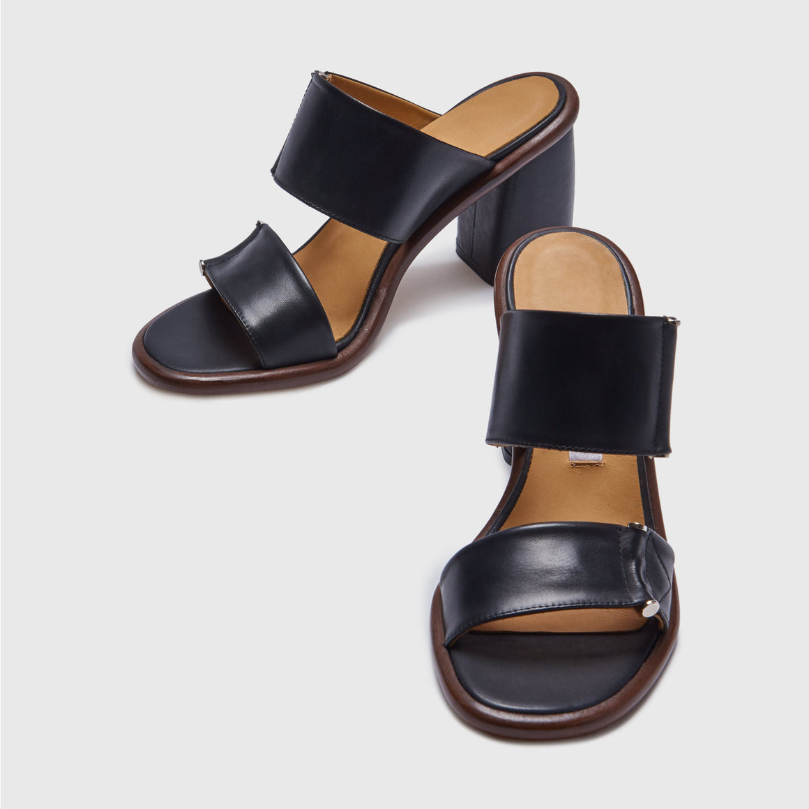 MIISTA MIRTA MULE SANDAL SHOES BLACK TAN | PIPE AND ROW SEATTLE LOCAL
