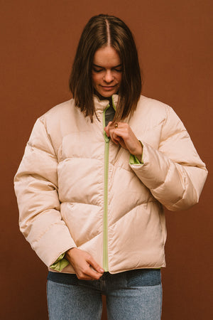 Paloma Wool Mitsubishi reversible puffer coat | pipe and row boutique seattle